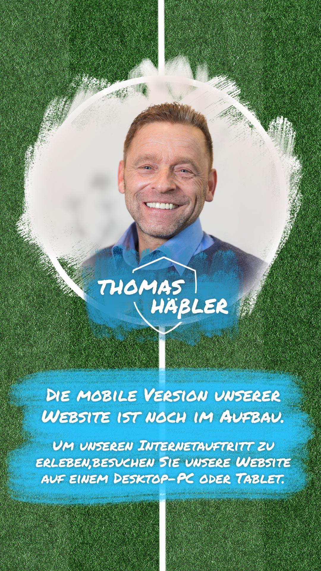 Baustellenschild Thomas Haessler